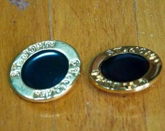 Vintage Authentic St. John Gold Buttons Set Of 6