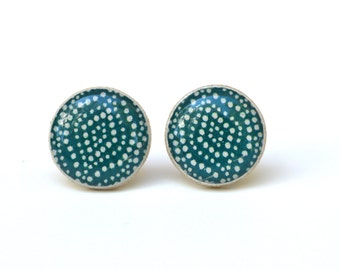mothers day from husband wooden Earrings Bohemian deep sea blue stud blue post earrings wood Blue Studs Geometric bohemian eco friendly