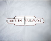 British Railways Sign for Train Enthusiast Vintage