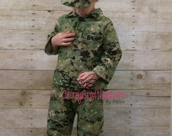 Child Military uniform, nb-12m, military uniform, Toddler  Military set, Baby military jacket, BAby military costume, military baby