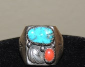 Estate Native American Ring size 10.5