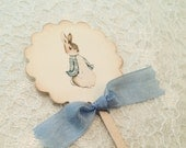 Peter Rabbit Beatrix Potter Cupcake Pick Topper-Baby Shower Birthday Decorations Cake Toppers Picks-Set of 12