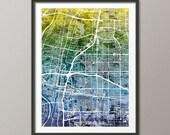Albuquerque Map,  Albuquerque New Mexico City Street Map, Art Print (2041)