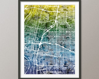 Albuquerque Map,  Albuquerque New Mexico City Street Map, Art Print (2041)