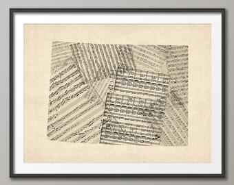 Colorado Old Sheet Music Map USA, Art Print (2116)
