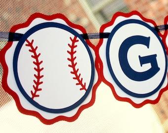 baseball name banner baseball party banner baseball baby shower decor sports baby shower