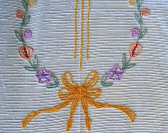 Vintage Chenille Fabric, Cutter Fabric, Pastels