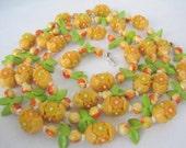 Fruit Salad Necklace Flapper 50 inch Long Plastic