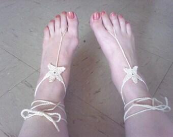 Starfish Barefoot Sandal,Beach Wedding, Foot thongs, Barefoot Sandals, Bridal Barefoot Sandal
