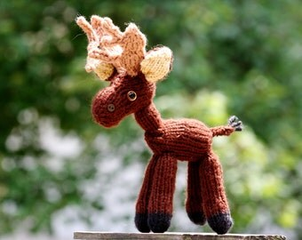 Little Knit Moose Doll - Amigurumi Toy