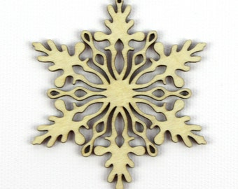 Snow Flurries - Laser Cut Wood Snowflake in Multiple Sizes and Quantity Discounts