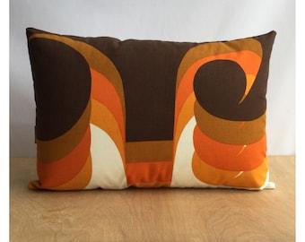 "Barbara Brown ""Omega"" Vintage 1960s Heals Fabric Cushion Cover"