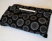 9x13 Black & White Casserole Carrier with FREE Recipe - Machine Washable, Swirl Polka-Dot, Can be Personalized, Made in USA, Free Shipping