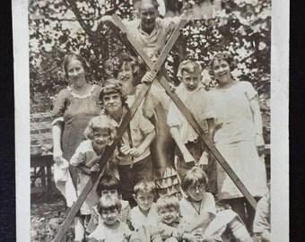 Original Antique Photograph Backyard Builders