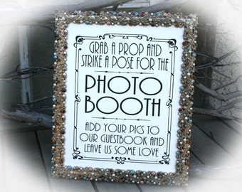 NOT a printable - Photo Booth Guest Book Sign-Art Deco Style -8 x 10 Wedding Sign-