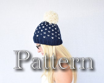 Knitting PATTERN,  Fair Isle Knitted Hat, Knitting pattern, Fair Isle Pattern, Size Adult || The Colorado