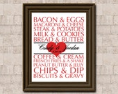 Food Couples Anniversary DIY Printable - Custom