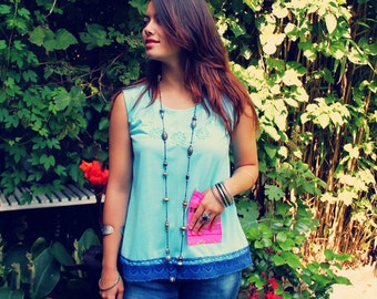 Bohemian Top, Upcycled Top, Boho Top, Bohemian Top, Mexican Shirt, Upcycled Clothing, Eco Friendly Clothing, Sustainable Clothing