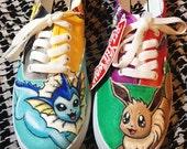 Pokemon Eevee Vaporeon Custom Shoes