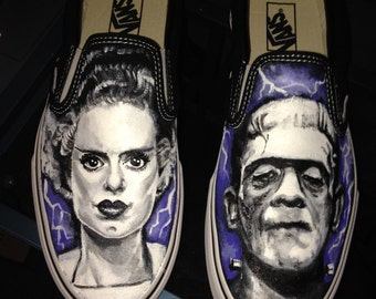 Horror Themed Custom Vans / Converse