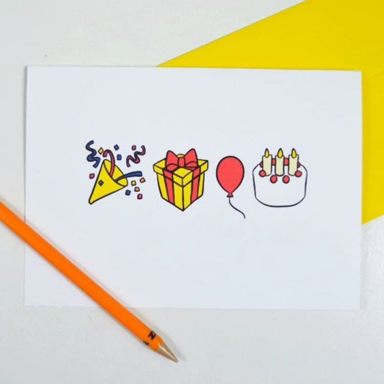 PRINTABLELanguage Of Emojis Birthday Card Snail By CozyReverie