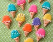 Mini Ice Cream Sugar Cookies - 1 Dozen Packs