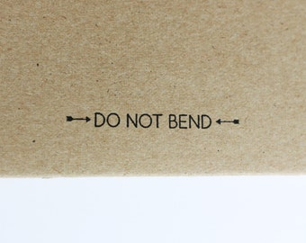 DO NOT BEND stamp with arrows, Self-Inking
