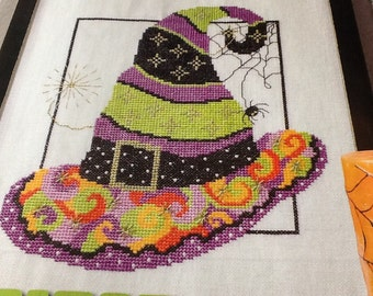 HALLOWEEN - Lot of 2 - Carpe Noctem & Witches Hat - cross stitch patterns only