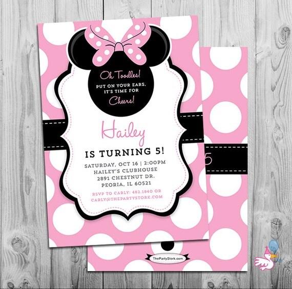 Minnie mouse invites minnie mouse party third birthday girl il570xn stopboris Images