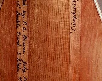 """Wooden Canoe Paddle, 12 degree, Double Bend S-Blade, P.G.S., Western Red Cedar """"Simplicity"""", No. 10"""
