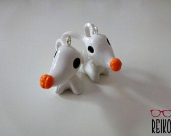 The Nightmare Before Christmas Zero Dog earrings