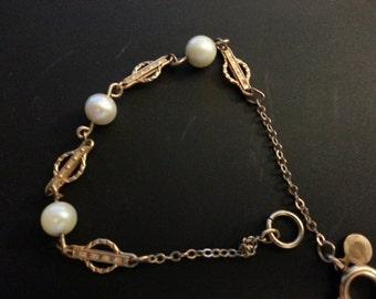 Ronci Gold Filled Pearl Bracelet