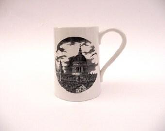 Vintage Portmeirion Mug Susan Williams-Ellis London Prints St Pauls Cathederal