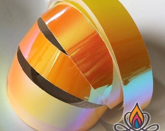 "3/4"" 36ft Roll, Orange Crush, Color Shifting Hoop Tape, Exotic Hoop Tape, Color Morphing Hoop Tape, Color Changing Tape, Iridescent"