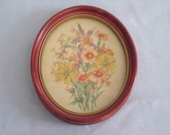 Vintage Framed Flower Print