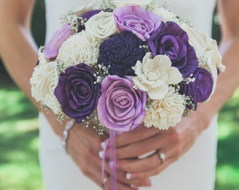 Wedding Bouquet, Sola wood Bouquet, Sola Lavender Bouquet, Alternative Bouquet, Sola flowers, Wood Boquet