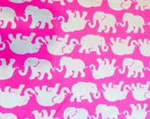 Lilly Pulitzer  signature fabric Tusk In Sun cotton dobby  2 sizes. 9 X 18 and 18 X 18 inches