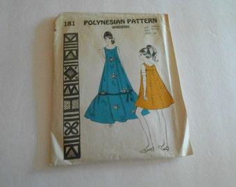 Polynesian Pattern 181 size small 30-32  WikiWiki dress  Hawaiian
