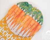 Carrots Fabric Badge, Large Badge, Pin Badge, Fabric Covered Button, Mothers Day Gift