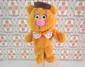 Disney Muppet Rare complete hand puppet muppet show Fozzie Bear