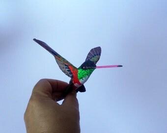 hummingbird art paper machè bird sculpture bird ornaments