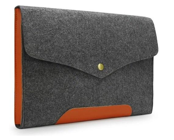 "20% OFF Felt 11""  Macbook Air Bag Cover Sleeve Leather Laptop case 13'' 15'' Macbook Retina Pro Fashion bag E1137"