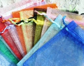 Organza Bags 4X6 Mixed Colors Organza 6X4 Inches Wedding Favor Bag Drawstring Bags Large Organza Bags Jewelry Bags Gift Bags
