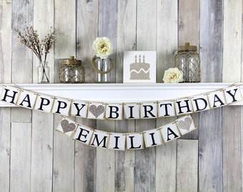 Custom Happy Birthday Banner, Champagne Birthday Decor, 21st Birthday banner, Champagne 21st birthday banner, 30th Birthday Banner