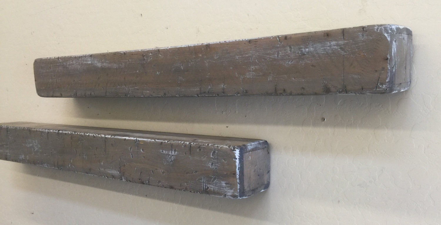 Rustic Floating Shelves Primitive Wall Shelf Distressed
