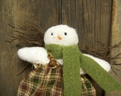 Primitive Snow Angel Ornament/Hanger Winter Decor