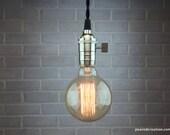 Bare Bulb Pendant Lamp - Edison Bulb Ceiling Lamp - Industrial Lighting - Hanging Light