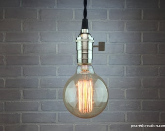 Bare Bulb Pendant Lamp - Edison Bulb Ceiling Lamp - Industrial Lighting - Hanging Light
