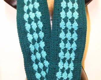 Teal and Aquamarine Blue Scarf