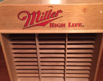 Miller High Life Wooden CD Holder